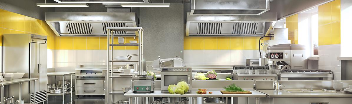 Industrial,Kitchen.,Restaurant,Modern,Kitchen.,3d,Illustration